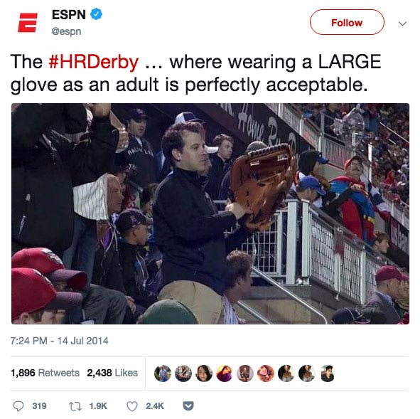 LARGE glove owner.